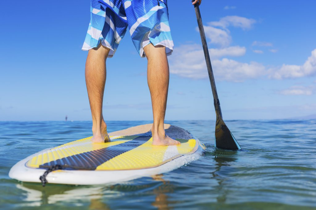 stand up paddle bas du corps